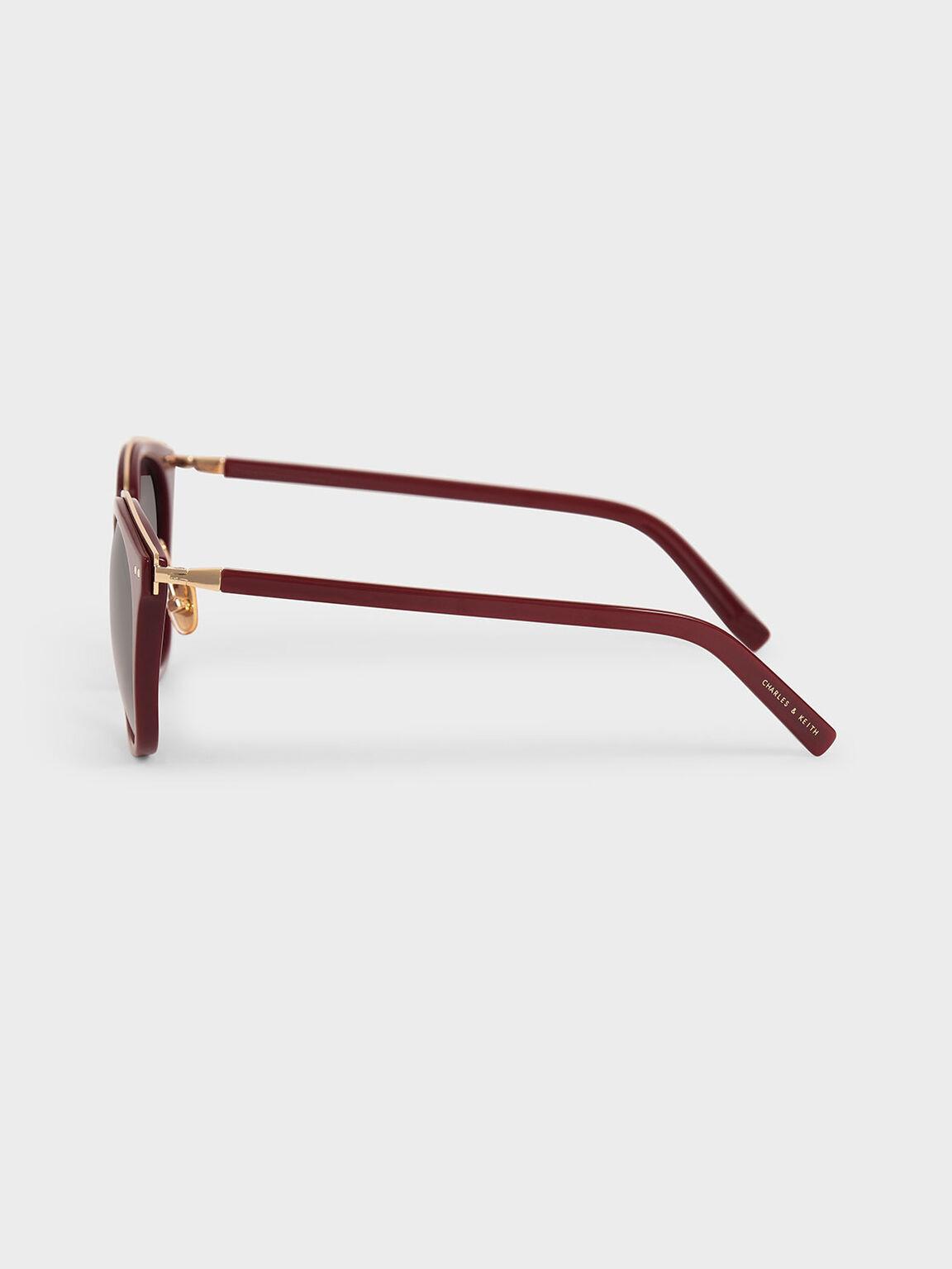 旅人膠框墨鏡, 酒紅色, hi-res