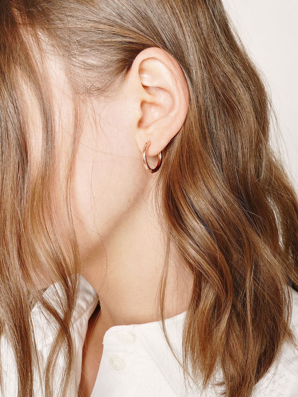 Hoop Earrings, Rose Gold, hi-res