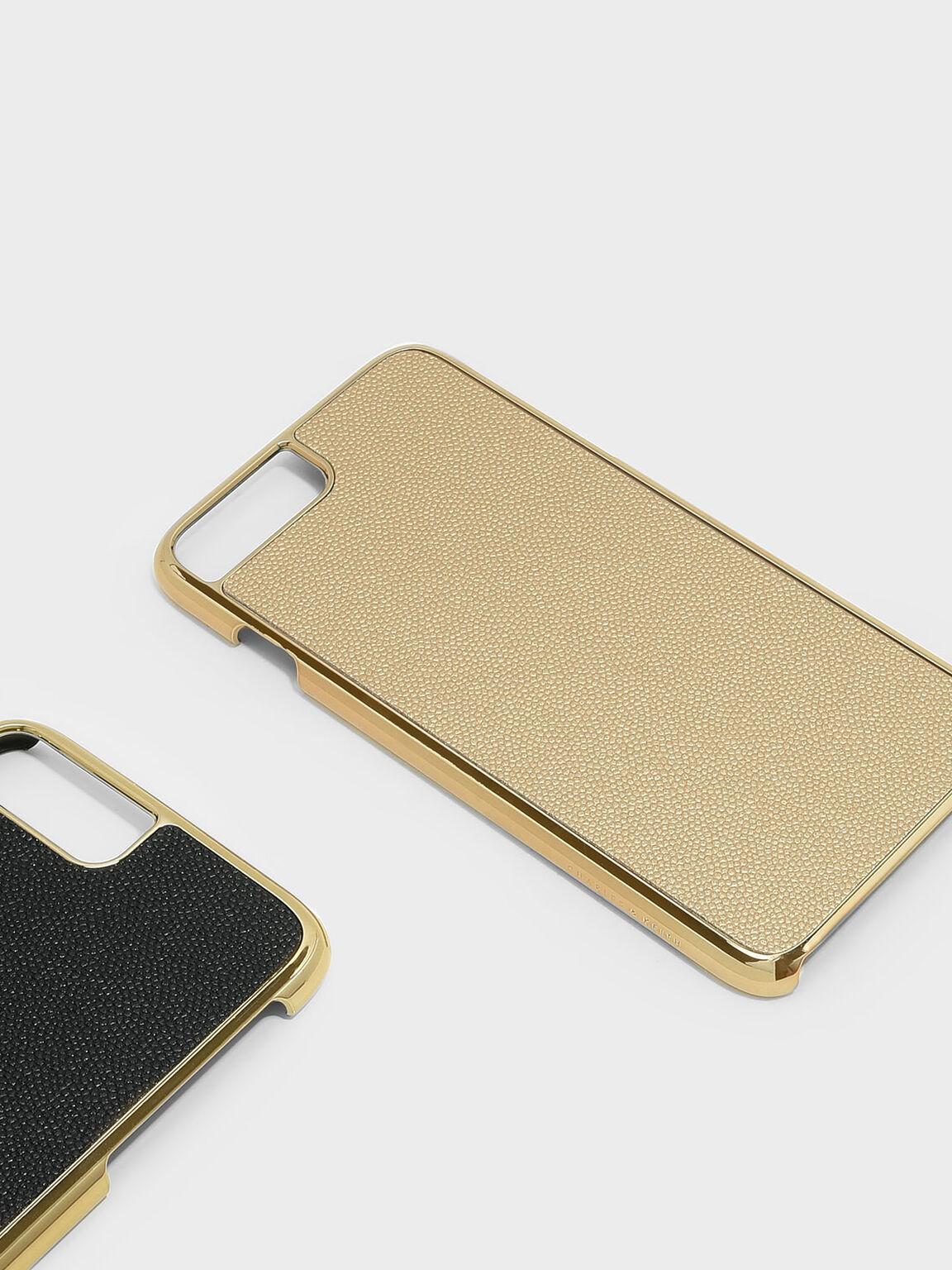 iPhone 7+ / 8+ 皮革手機殼, 金色, hi-res