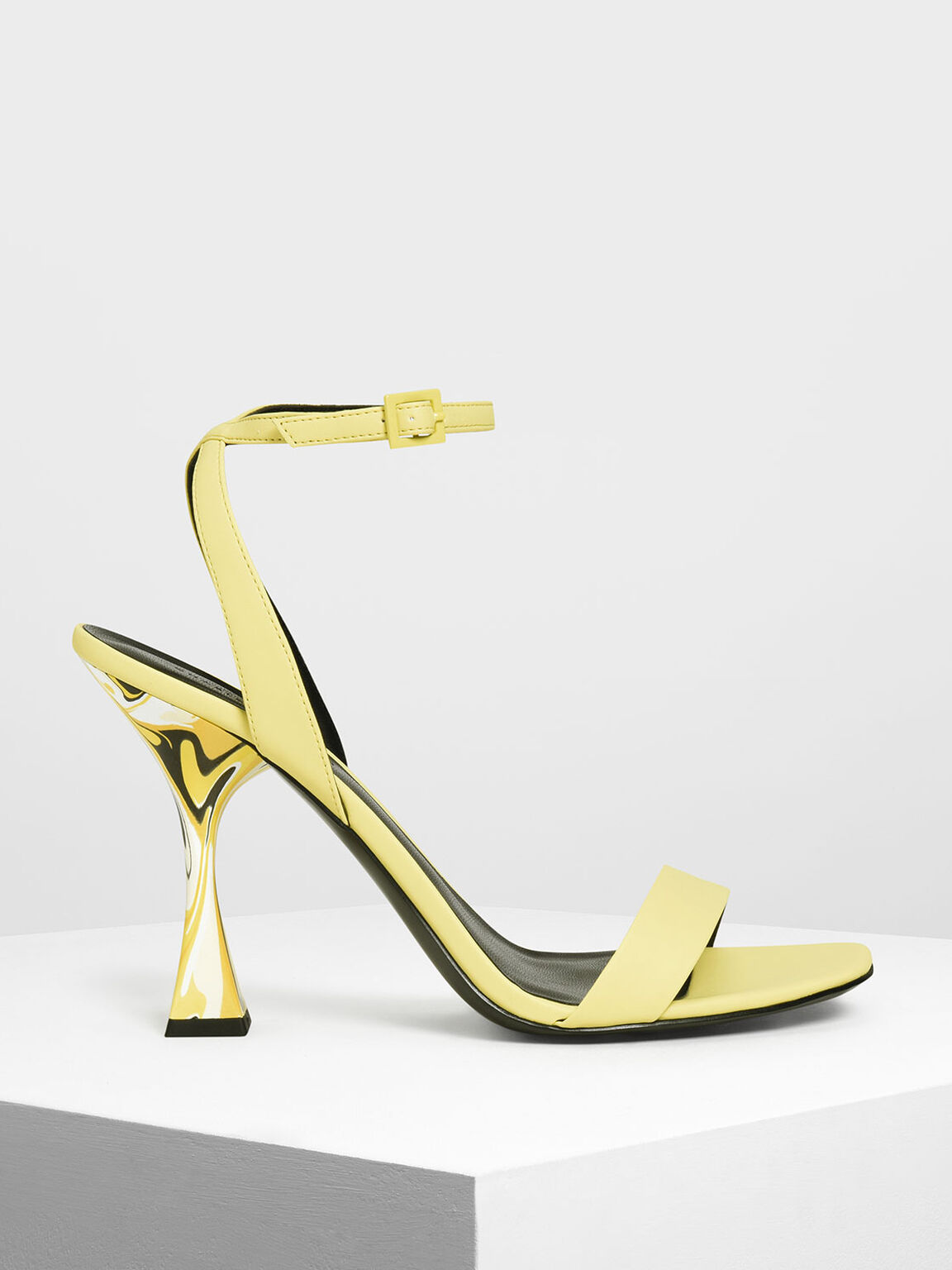 Sculptural Heels, Yellow, hi-res