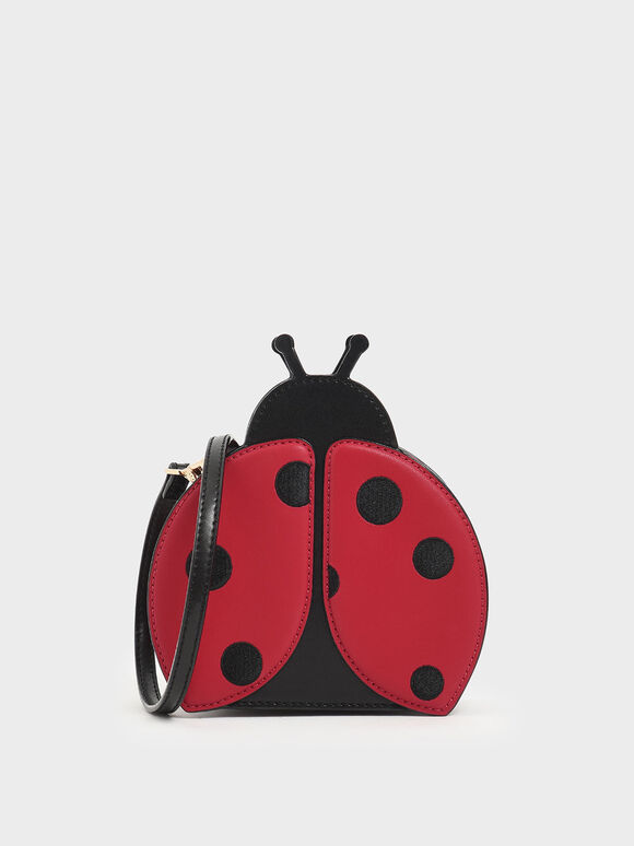 Girls' Ladybug Crossbody Bag, Red, hi-res