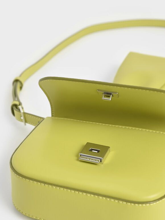 Knotted Wristlet Bag, Lime, hi-res