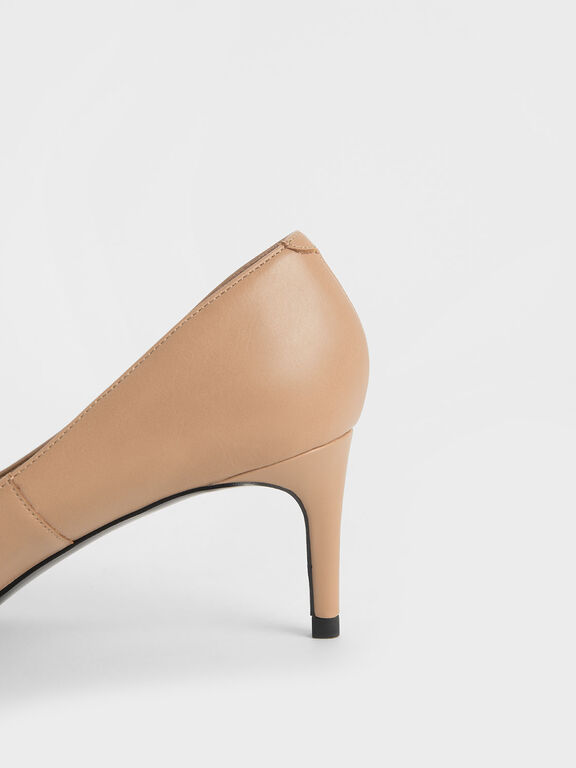 Classic Pointed Toe Pumps, Nude