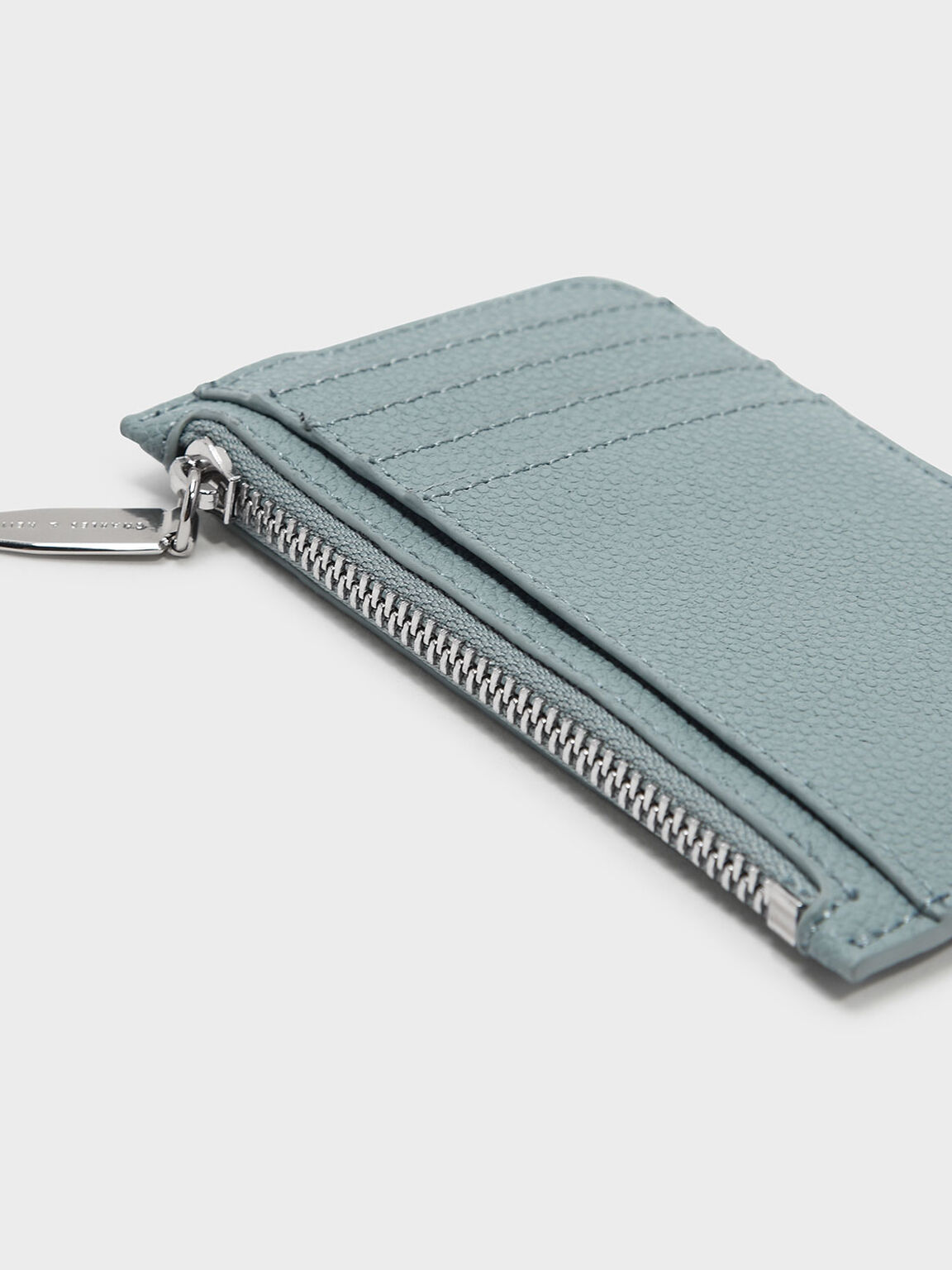 Zipped Card Holder, Slate Blue, hi-res