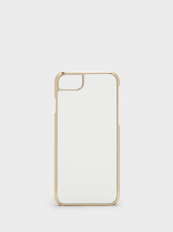 Textured iPhone Case, White, hi-res