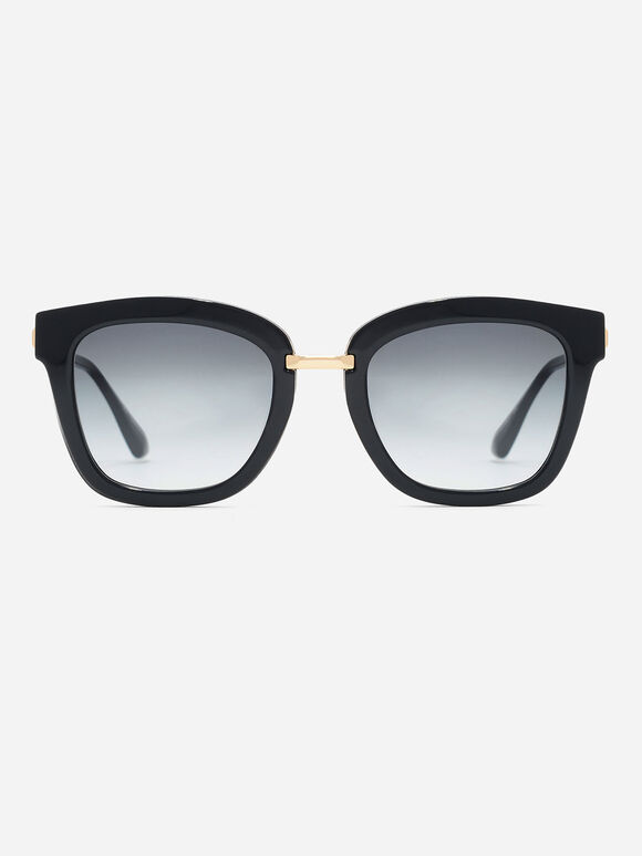 Angular Frame Sunglasses, Black, hi-res