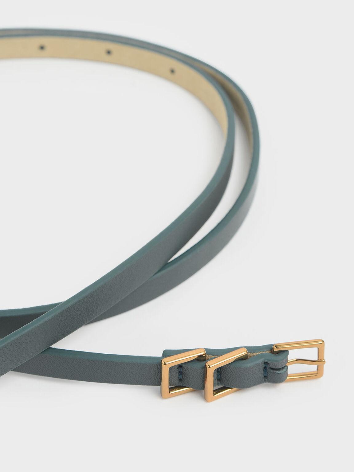 Skinny Knot Belt, Sage Green, hi-res