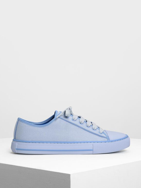 Candy Coloured Canvas Sneakers, Light Blue, hi-res