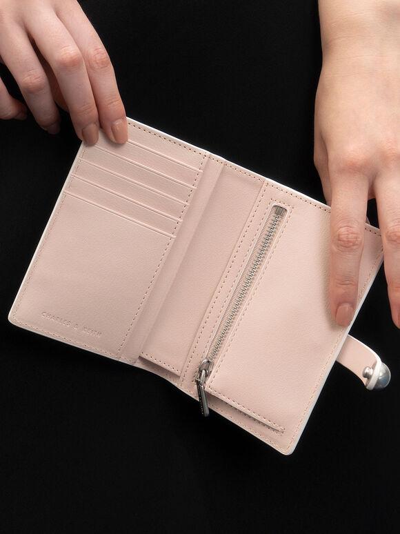 Mini Snap Button Wallet, Light Pink, hi-res