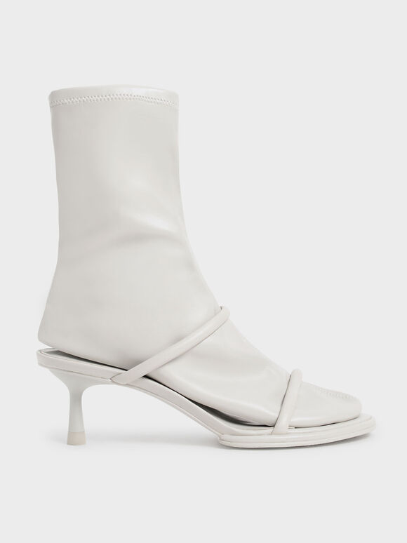 Lucile 細跟拖鞋襪靴, 灰色, hi-res
