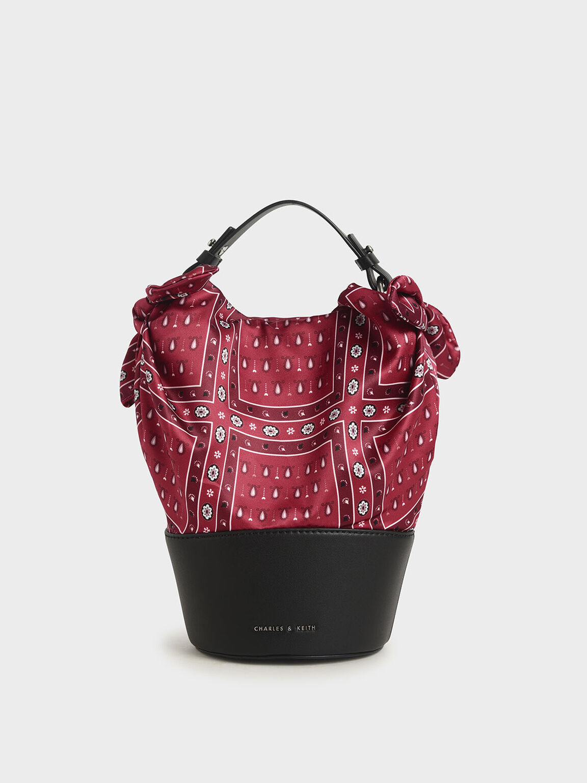 The Purpose Collection - Bandana Print Bucket Bag, Red, hi-res