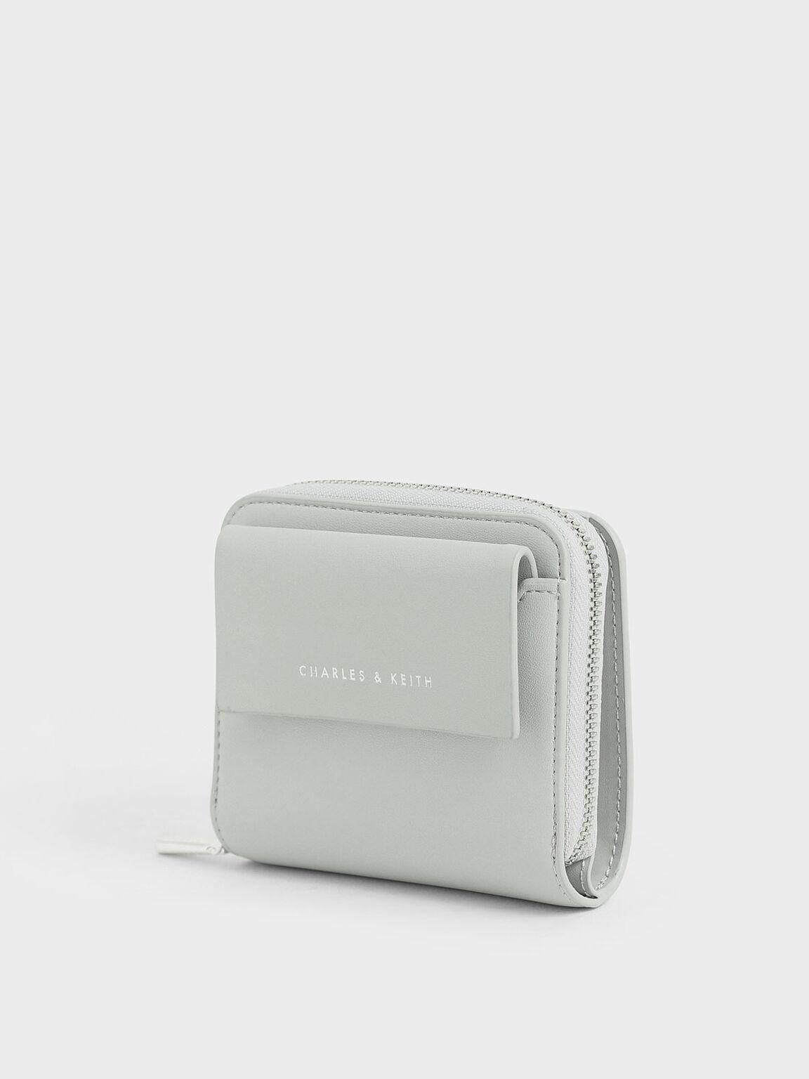 Mini Square Wallet, Dusty Blue, hi-res