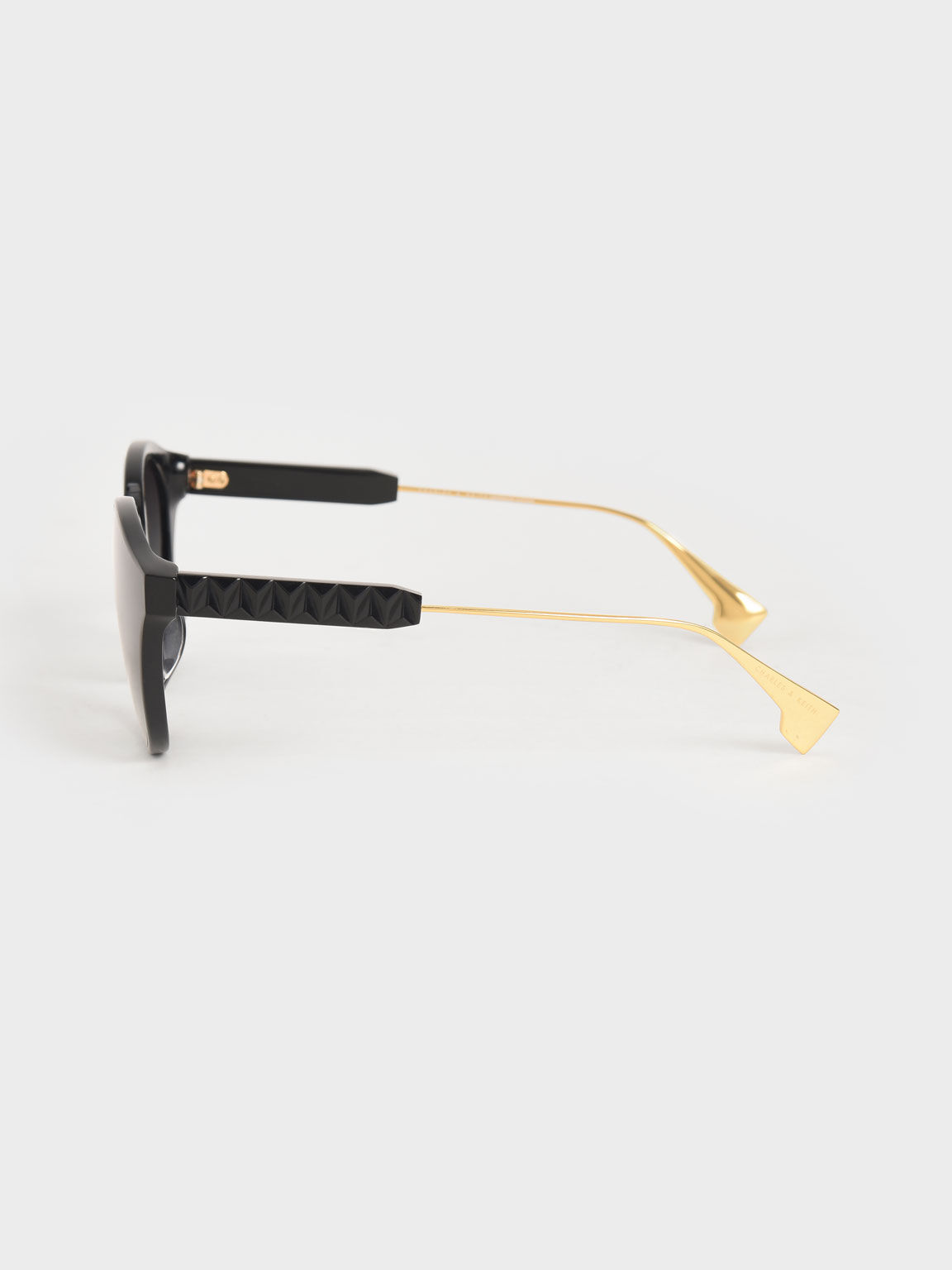 貓眼膠框墨鏡, 黑色, hi-res