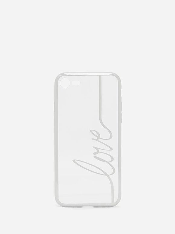 Typeface Iphone Cover, Silver, hi-res