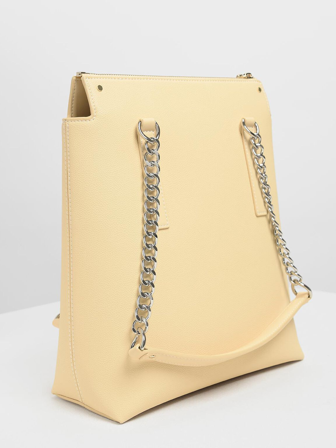 Long Chain Tote Bag, Yellow, hi-res