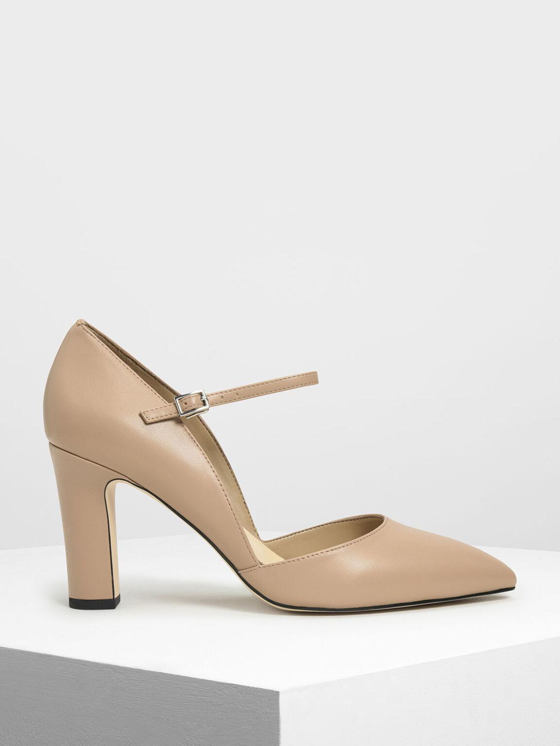 D'Orsay Mary Jane Heels, Camel, hi-res