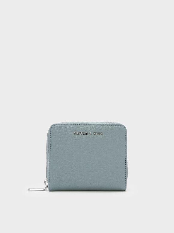 Classic Zip Around Wallet, Slate Blue, hi-res