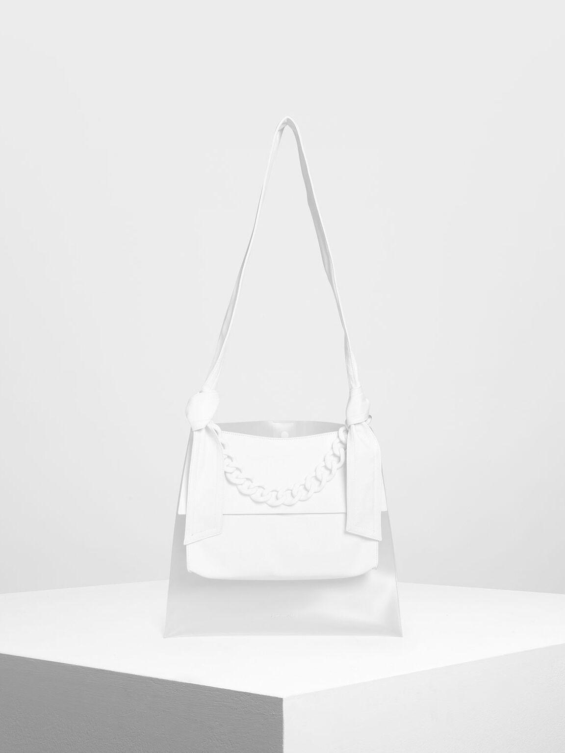 大型Hobo包, 白色, hi-res