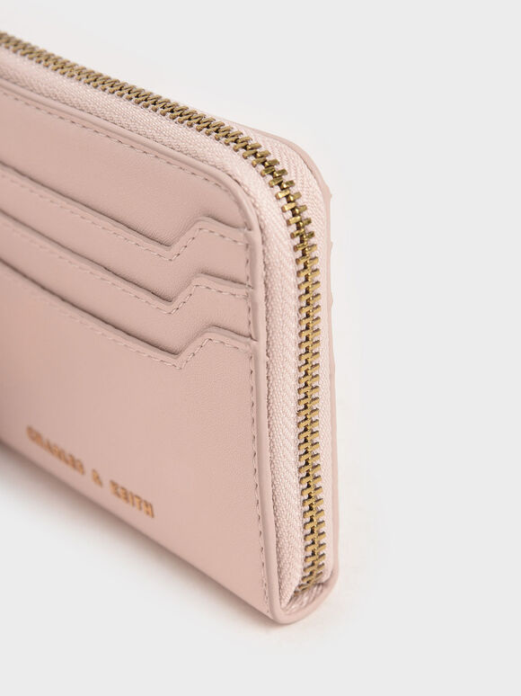 Zip Around Card Holder, Light Pink, hi-res