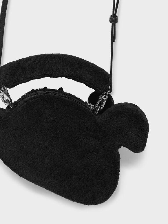 Kids Swan Bag, Black, hi-res