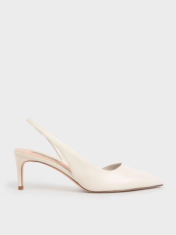 簡約細跟鞋, 石灰白, hi-res