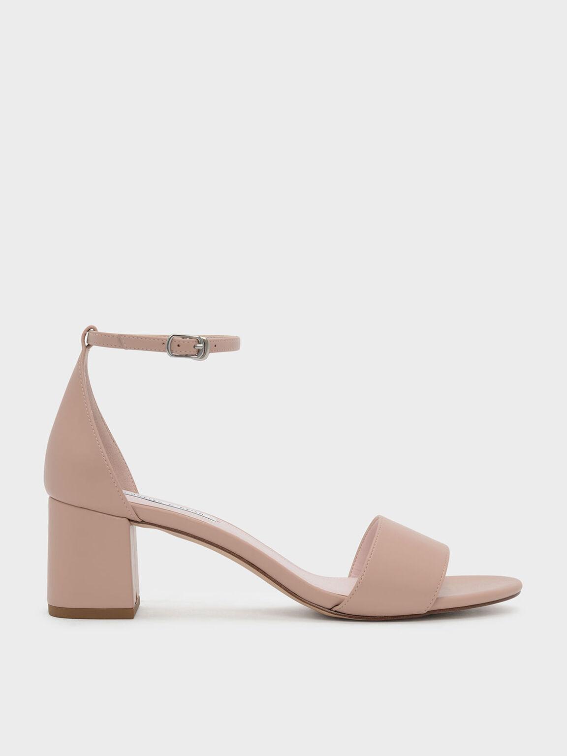 Ankle Strap Sandals, Pink, hi-res