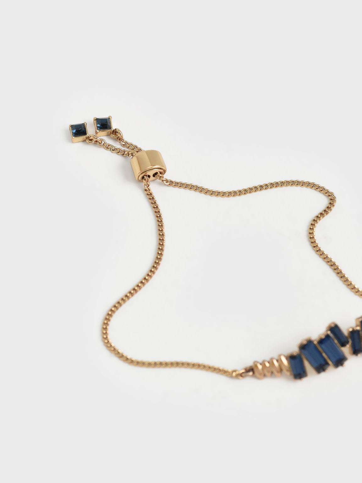 施華洛世奇®水晶細手鍊, 海軍藍, hi-res