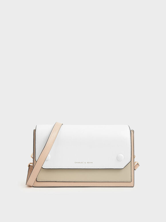Two-Tone Mini Clutch Bag, Nude, hi-res