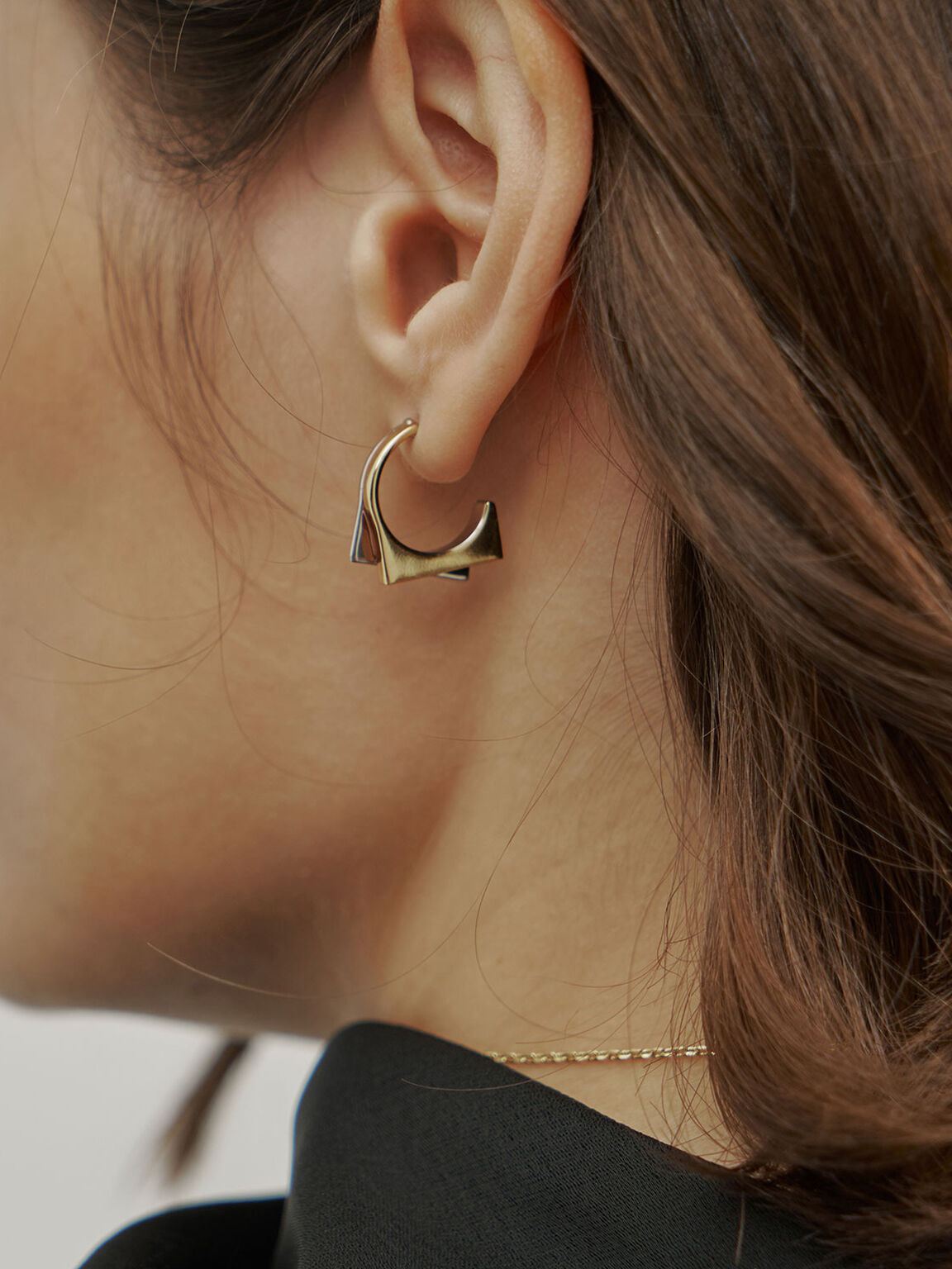 Sculptural Hoop Earrings, Multi, hi-res