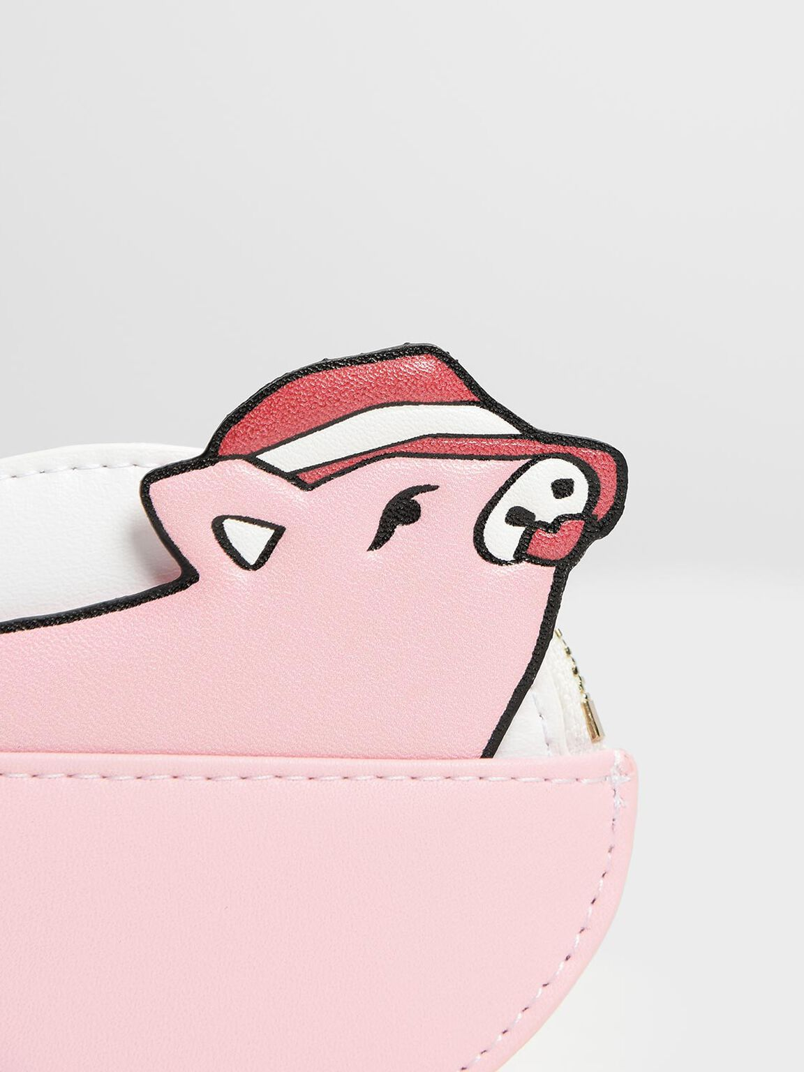 Zodiac Pig Coin Purse, Pink, hi-res