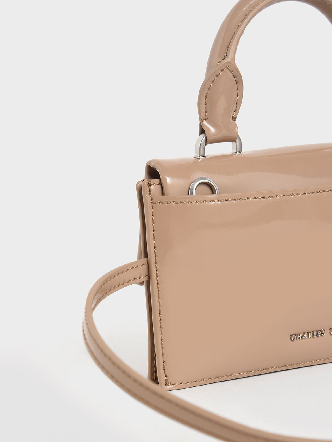 Patent Belt Bag, Beige, hi-res