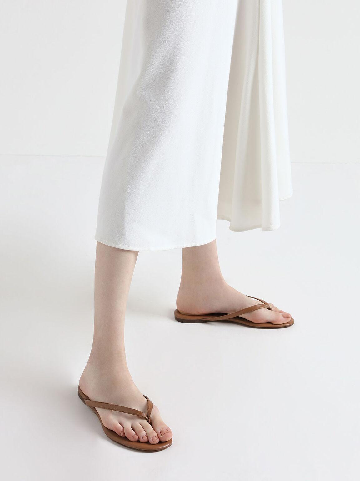 Thong Sandals, Brown, hi-res