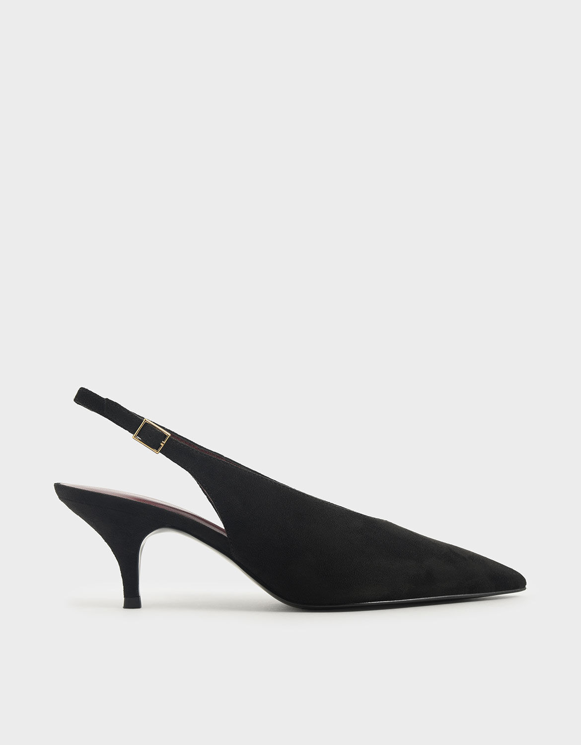 Black Textured Textured Pointed Toe