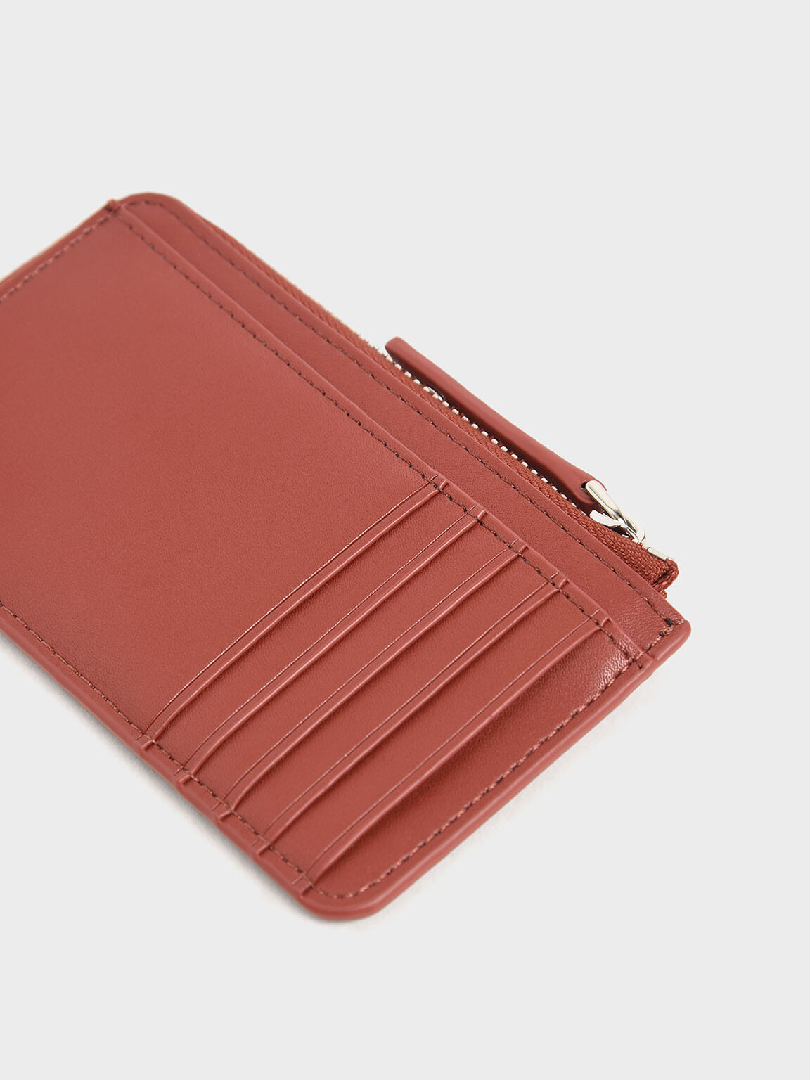 Zip Around Multi-Slot Card Holder, Clay, hi-res