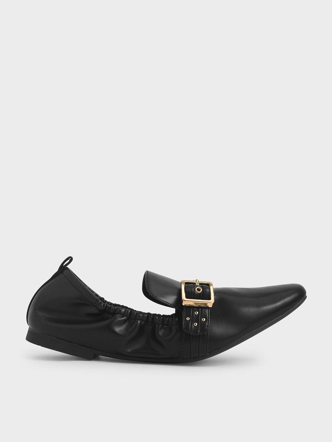 Studded Loafers, Black, hi-res