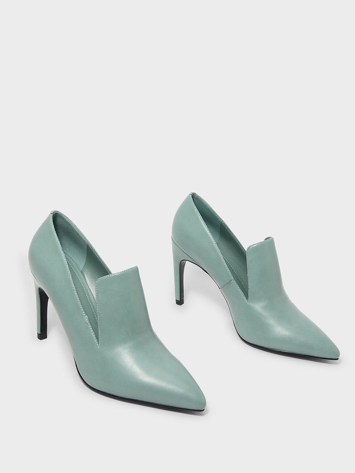 Extended Topline Heels, Green, hi-res