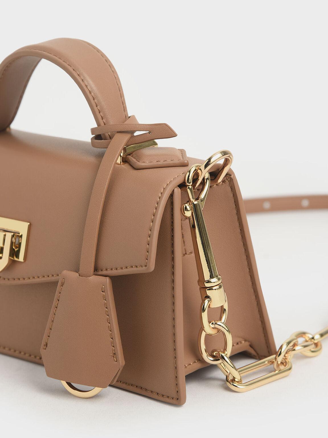Top Handle Trapeze Bag, Nude, hi-res