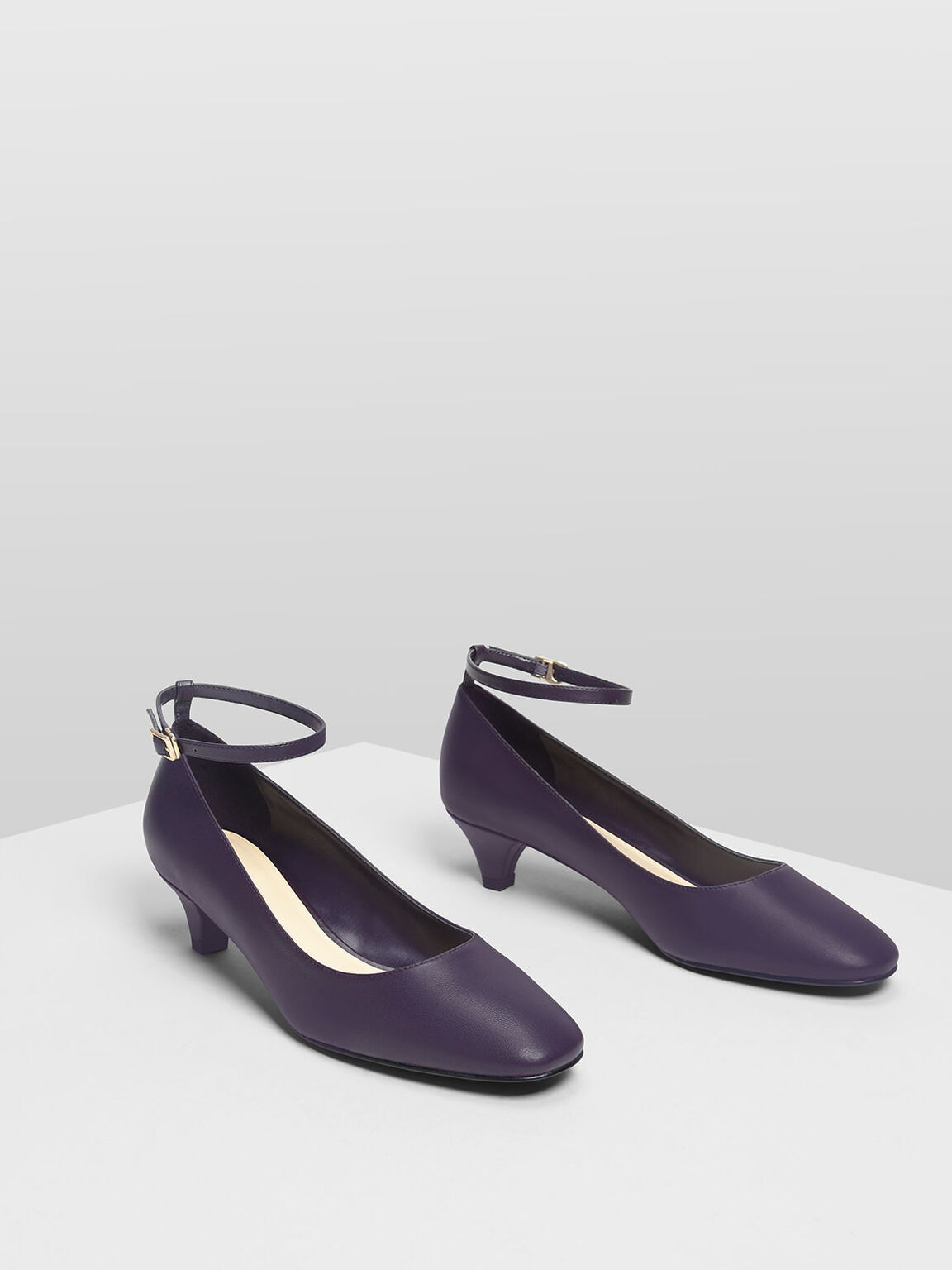Ankle Strap Pumps, Purple, hi-res