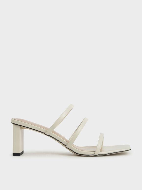 方頭細帶拖鞋, 石灰白, hi-res