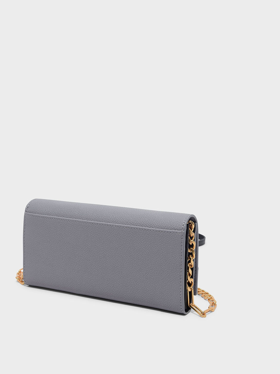 Colour Block Detail Long Wallet, Lilac Grey, hi-res