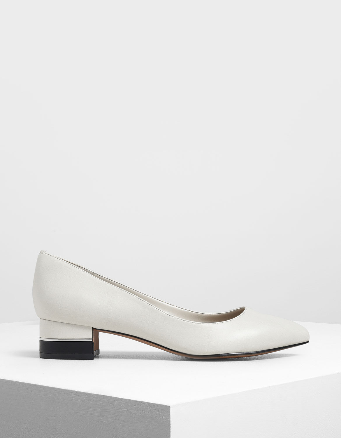 Chalk Classic Pointed Toe Pumps