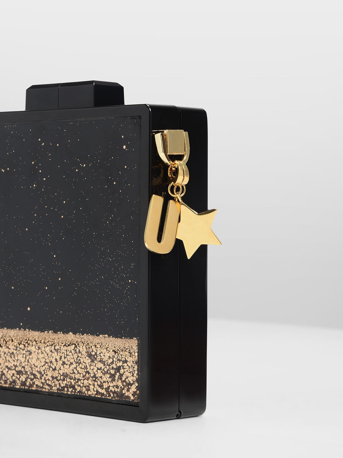 Gold Star Keychain, Gold, hi-res