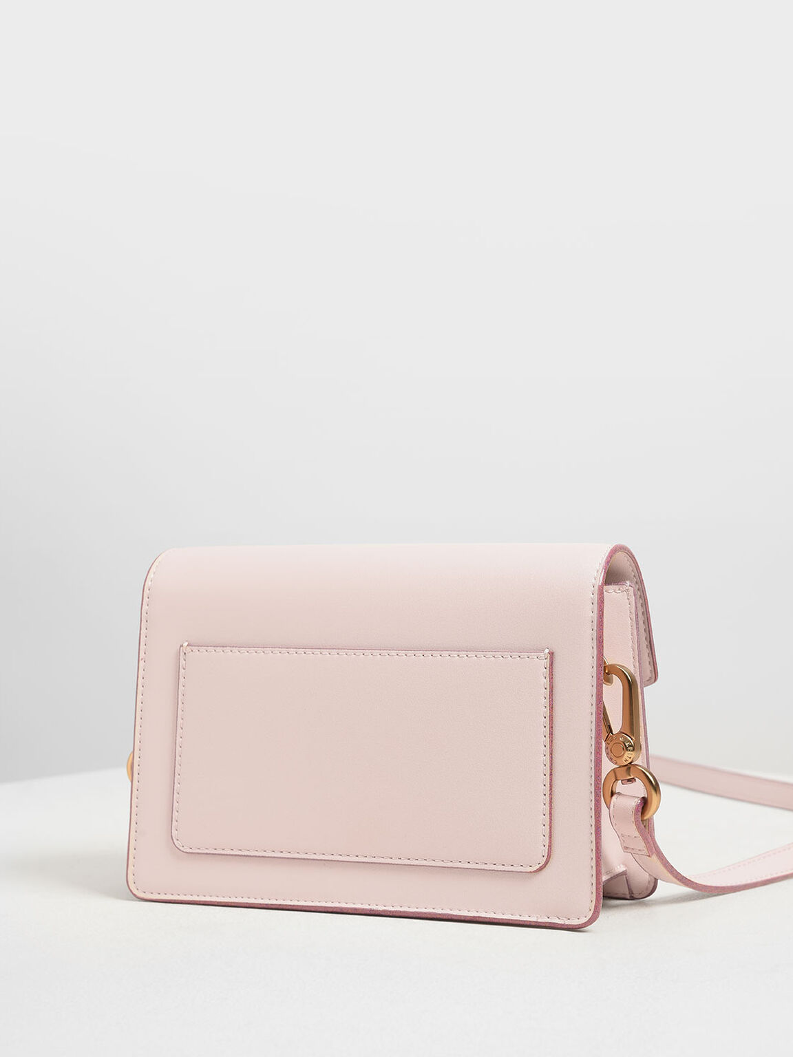 Front Flap Crossbody Bag, Light Pink, hi-res