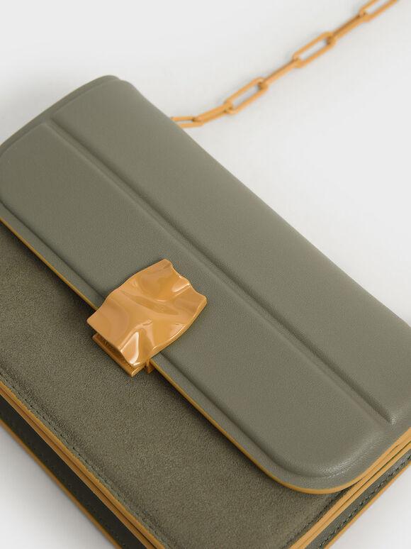 Textured Mini Wallet, Sage Green, hi-res