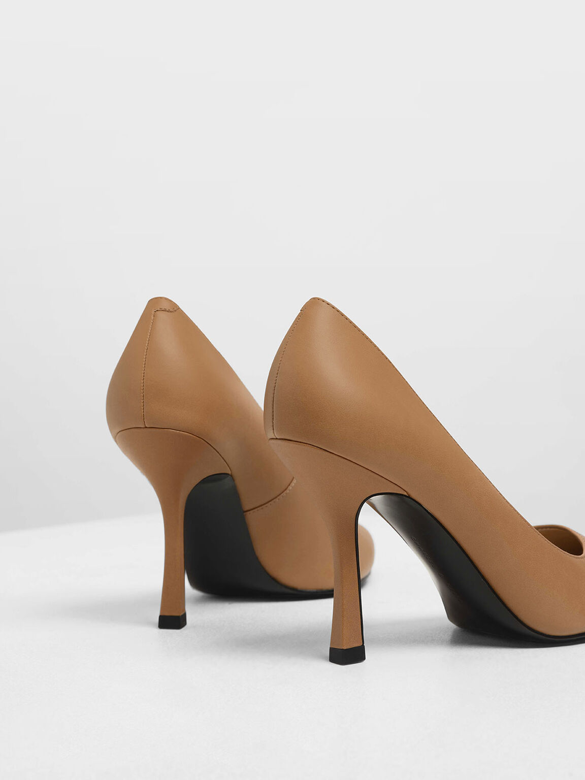 Curved Stiletto Heel Pumps, Sand, hi-res