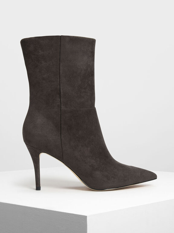 Classic Pointed Calf Boots, Military Green, hi-res