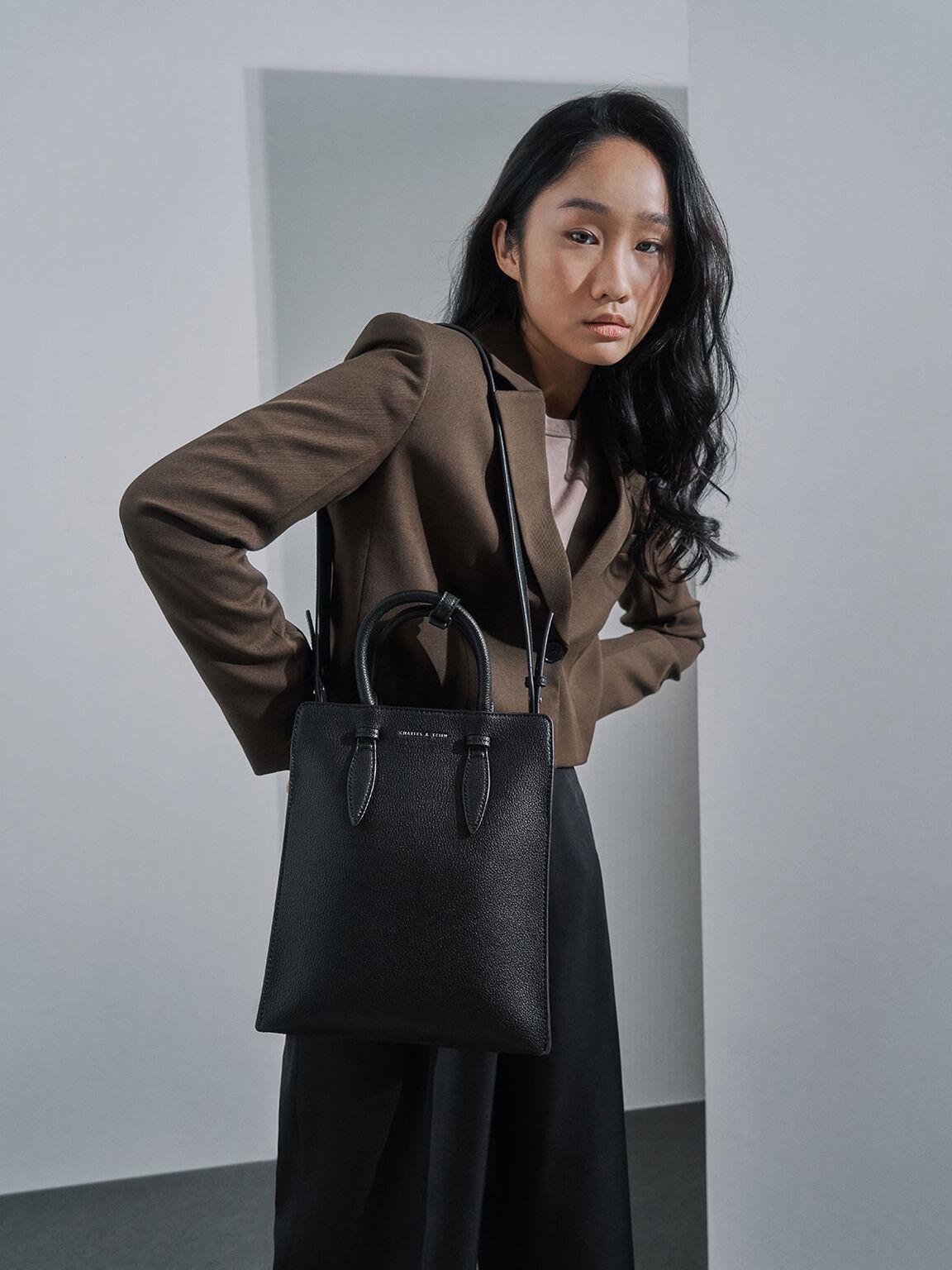 Elongated Tote Bag, Black, hi-res