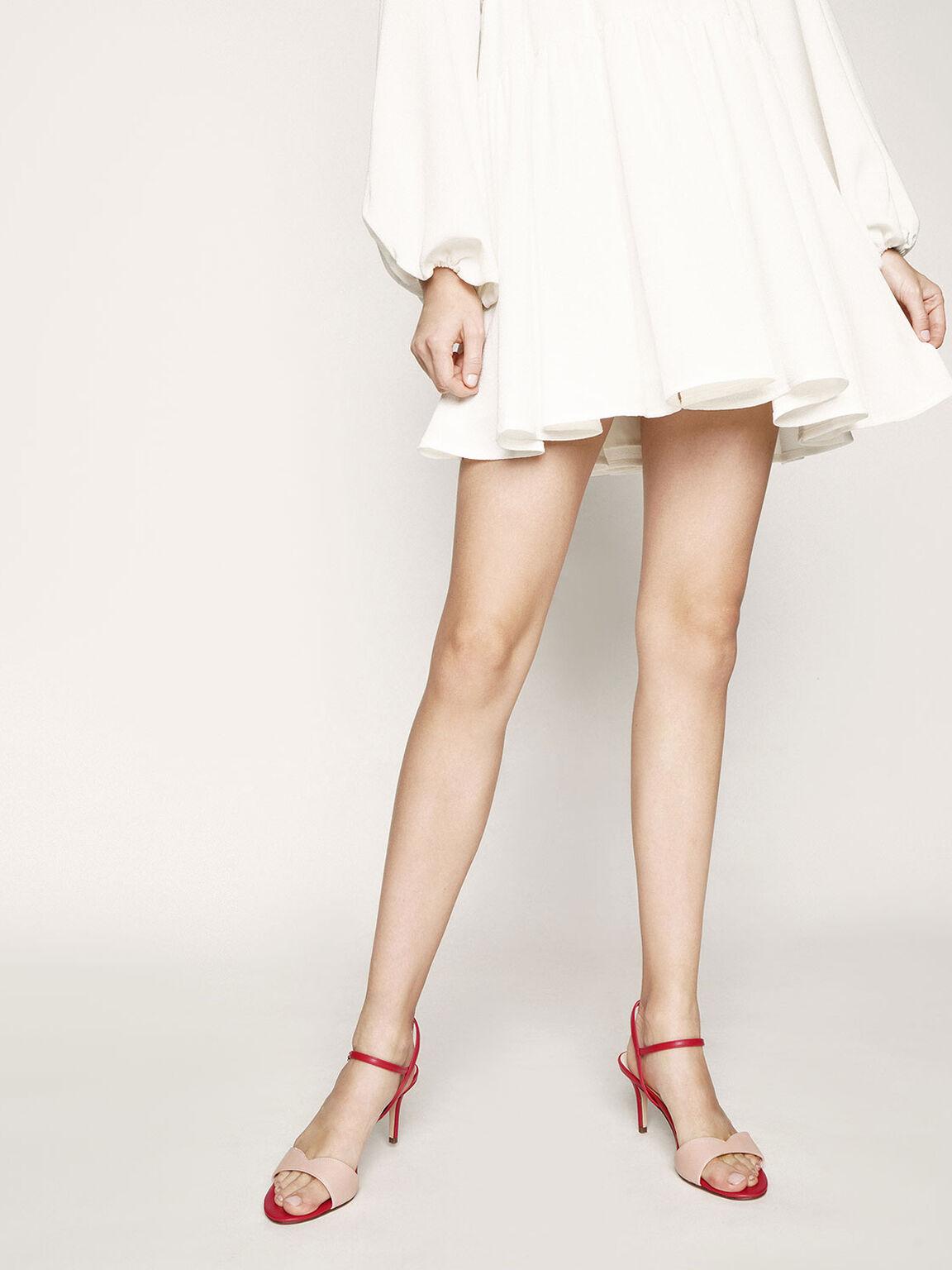 Sweetheart Topline Ankle Strap Heels, Multi, hi-res