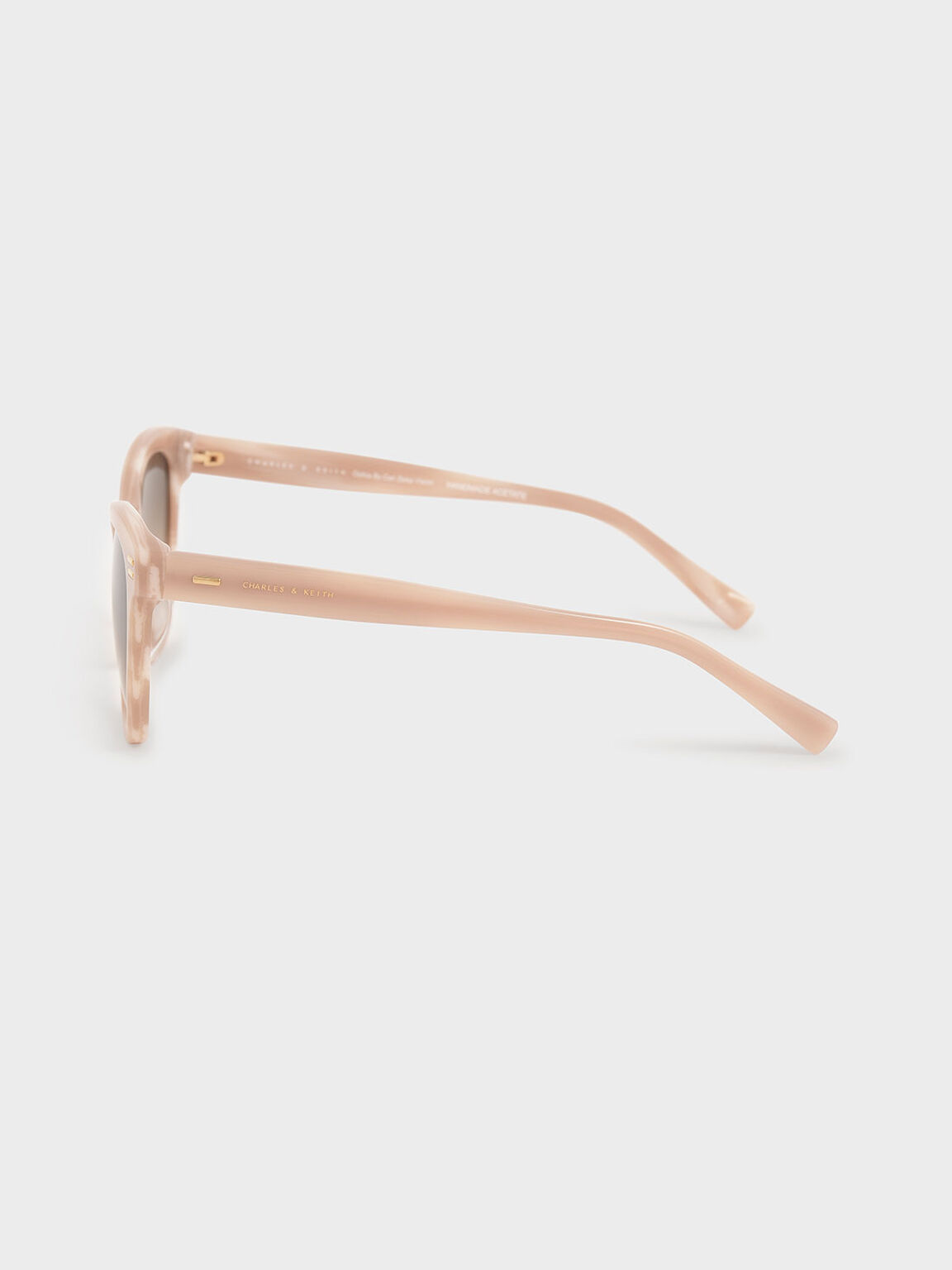 Acetate Rectangular Sunglasses, Taupe, hi-res