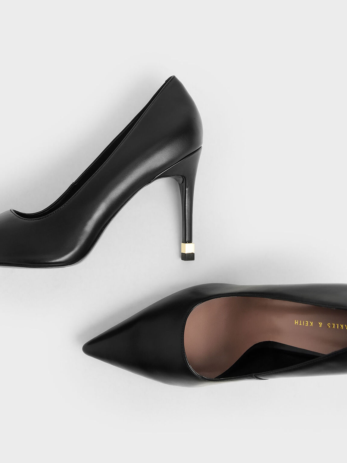 Stiletto Pumps, Black, hi-res